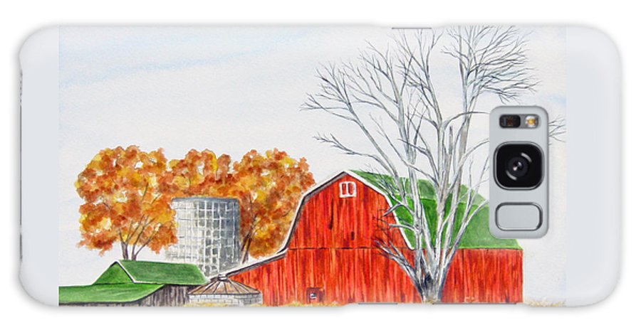 Paintings Galaxy S8 Case featuring the painting Johnson Farm by Regan J Smith