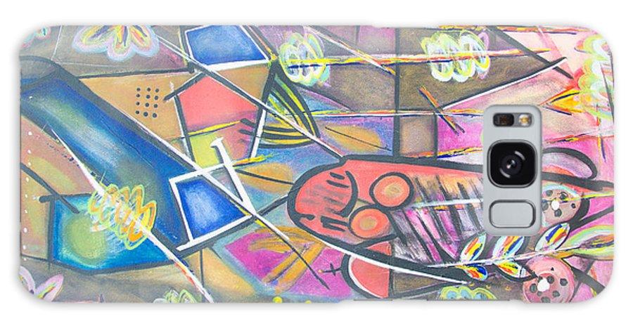 Galaxy S8 Case featuring the drawing La Couleur D'un Village by Volmar Etienne