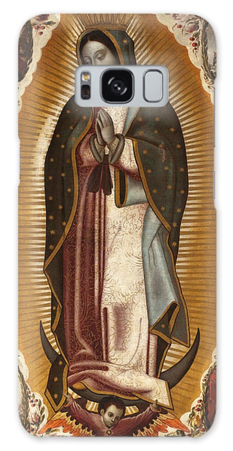 The Virgin Of Guadalupe Galaxy S8 Case featuring the painting La Virgen De Guadalupe by Manuel de Arellano