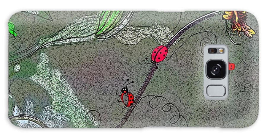 Flower Galaxy S8 Case featuring the photograph Ladybug Slide by Karen Beasley