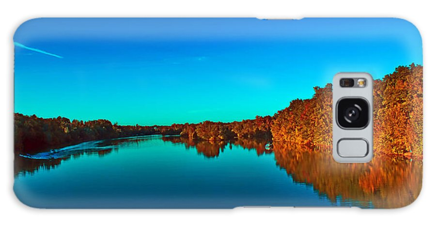 Autumn Galaxy S8 Case featuring the photograph Lake Reflections by Alex Grichenko