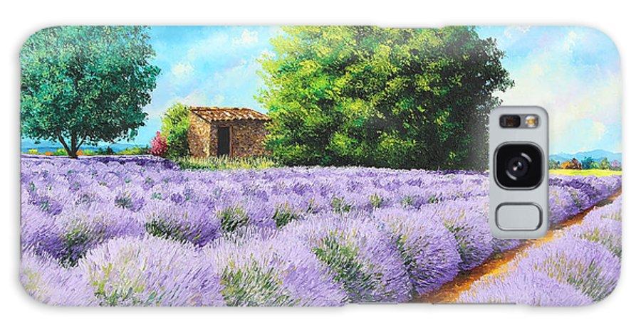 Jean-marc Janiaczyk Galaxy S8 Case featuring the painting Lavender Lines by Jean-Marc Janiaczyk