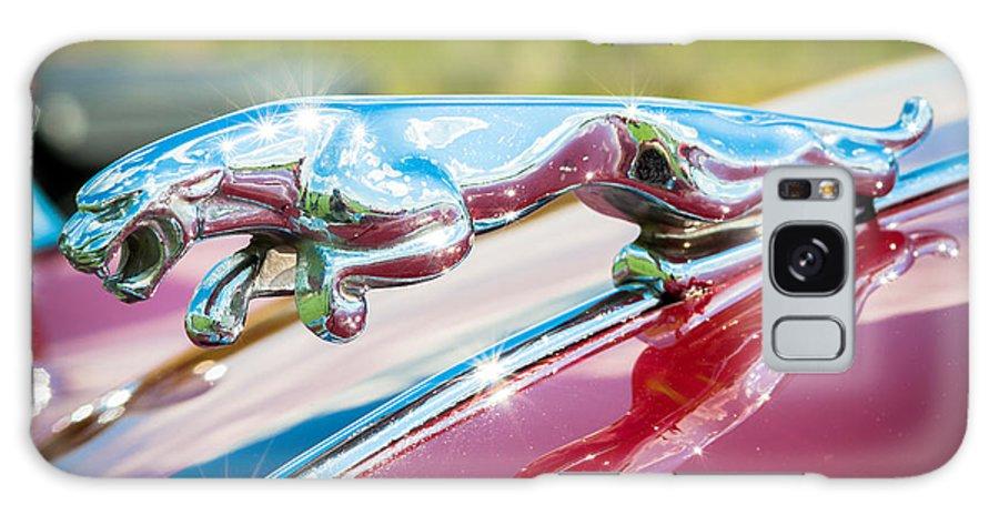 1960 Jaguar Galaxy S8 Case featuring the photograph Leaping Jaguar by Sebastian Musial