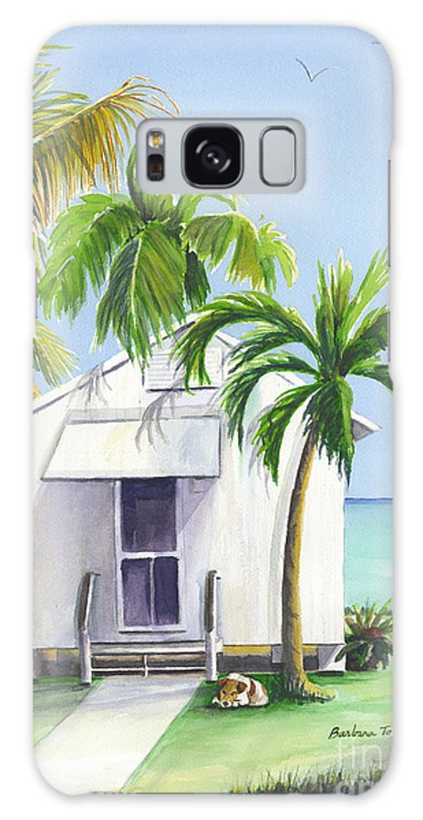 Florida Keys Galaxy S8 Case featuring the painting Little House On A Little Island by Barbara Totten