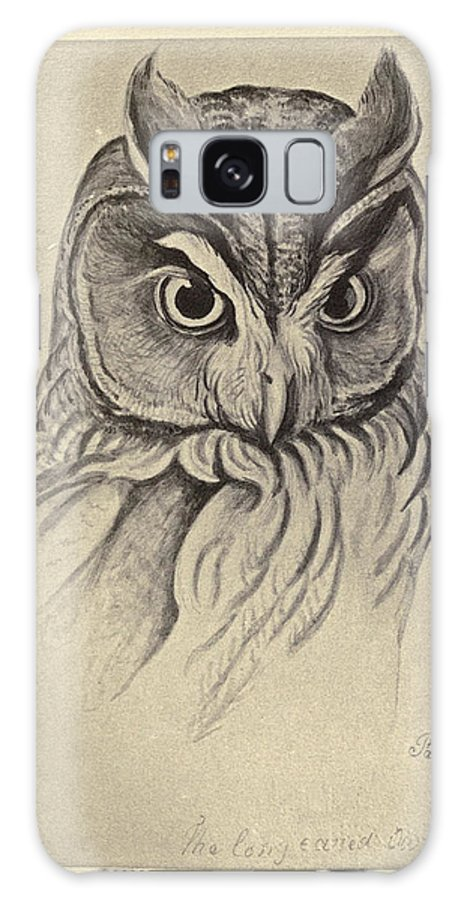 Audubon Galaxy S8 Case featuring the painting Long Eared Owl by Philip Ralley