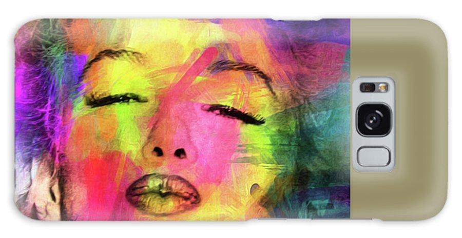 Pop Art Galaxy Case featuring the digital art Marilyn Monroe by Mark Ashkenazi