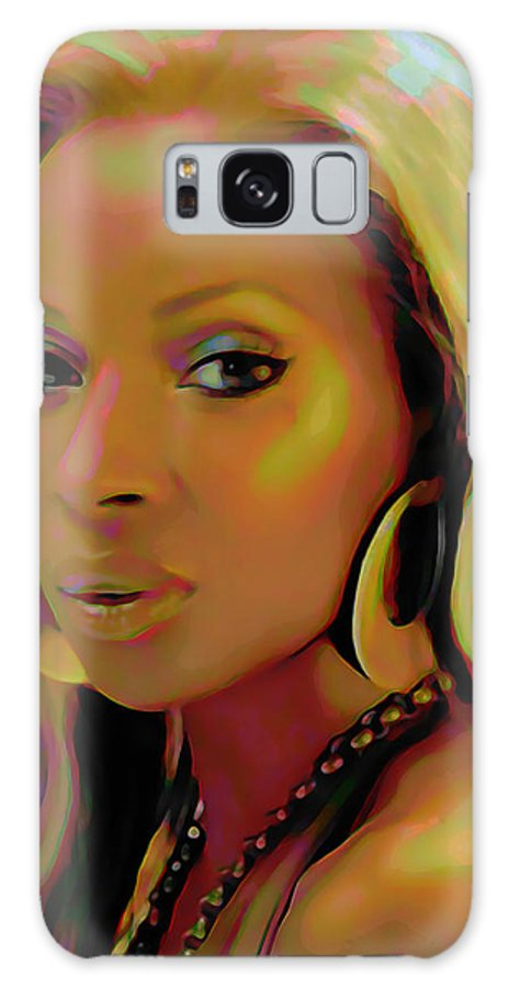 Mary J Blige Galaxy S8 Case featuring the painting Mary J Blige by Fli Art