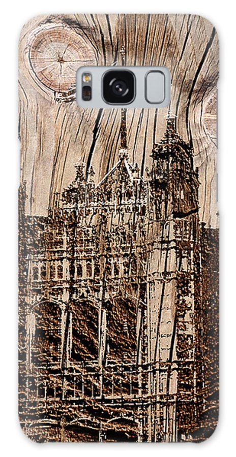 Metal Wood Grain Castle Galaxy S8 Case featuring the photograph Metal England Castle by Debra   Vatalaro