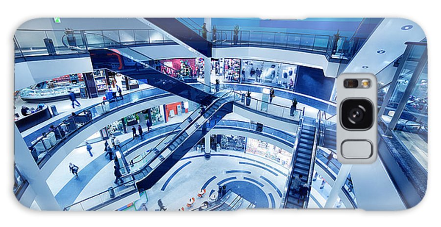 Mall Galaxy S8 Case featuring the photograph Modern Shopping Mall Interior by Michal Bednarek