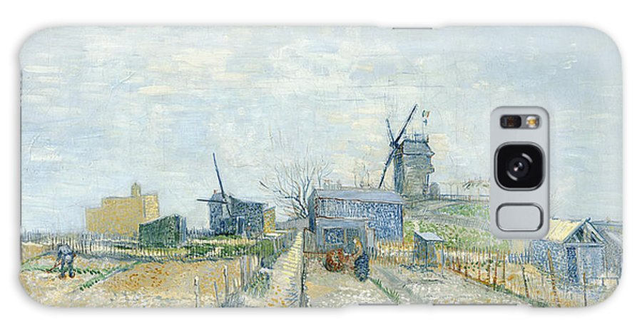 Vincent Van Gogh Galaxy S8 Case featuring the painting Montmartre Mills And Vegetable Gardens by Vincent Van Gogh