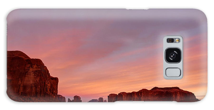 Monument Valley Galaxy S8 Case featuring the photograph Monument Sunrise by Thomas and Thomas Photography