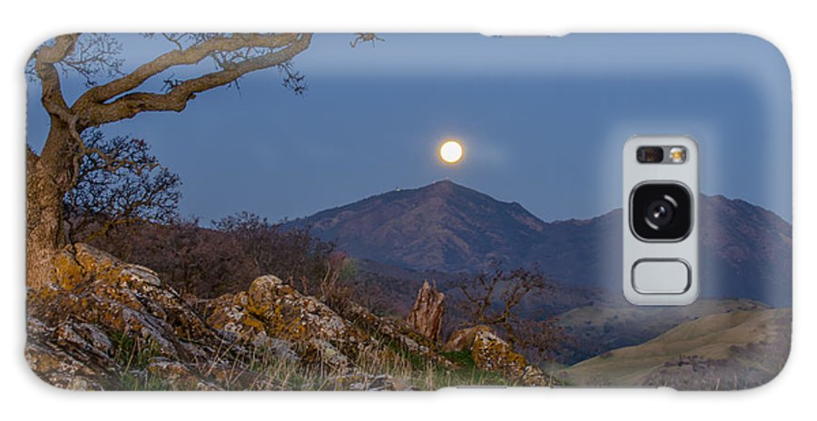 Landscape Galaxy S8 Case featuring the photograph Moon Over Mt Diablo by Marc Crumpler