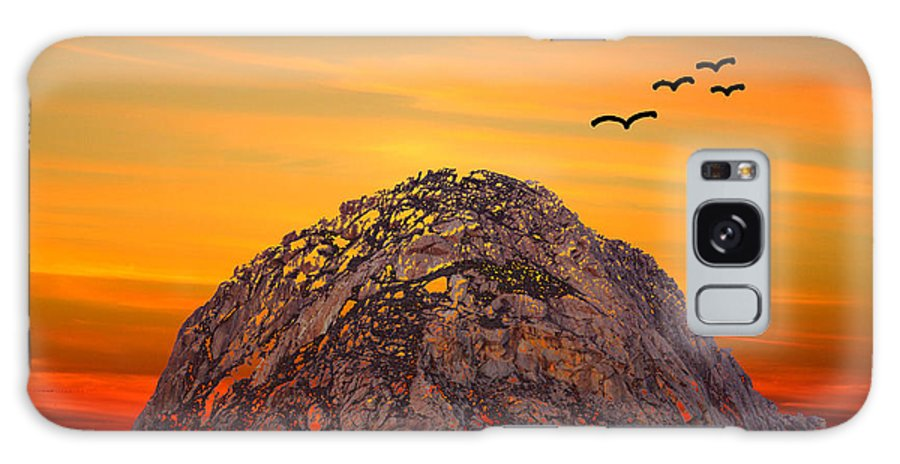 Barbara Snyder Galaxy S8 Case featuring the photograph Morro Rock 3007 by Barbara Snyder