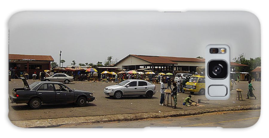 Landscapes African Mini Service Stations Moyamba Junction Sierra Leone Moyamba Pictures Galaxy S8 Case featuring the photograph Moyamba Junction-markets by Mudiama Kammoh