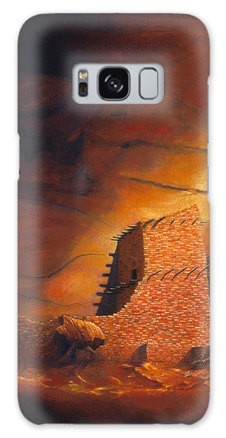 Mummy Cave Ruins Galaxy S8 Case featuring the painting Mummy Cave Ruins by Jerry McElroy