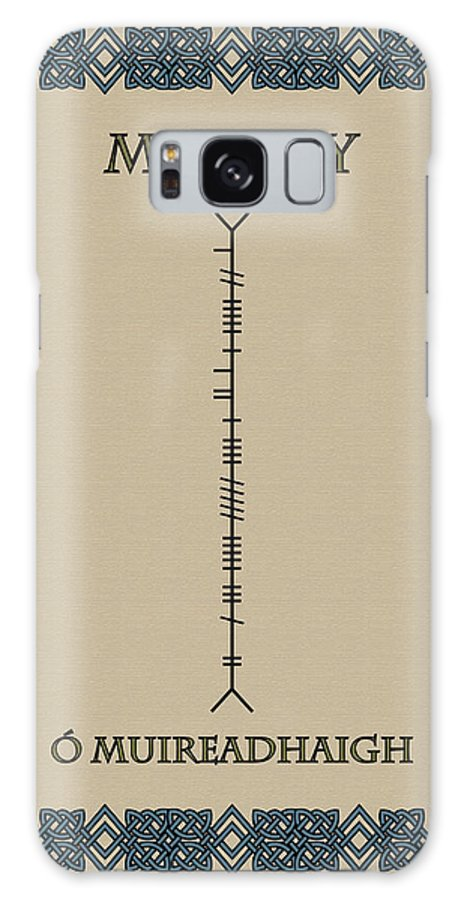 Murray Galaxy S8 Case featuring the digital art Murray Written In Ogham by Ireland Calling