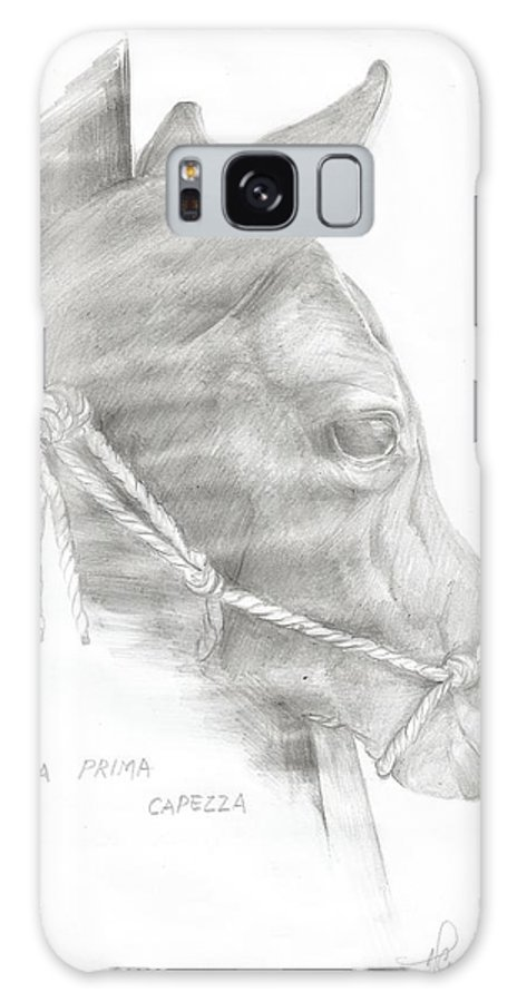 Pet Galaxy S8 Case featuring the drawing My First Halter by Alessandra Craxi