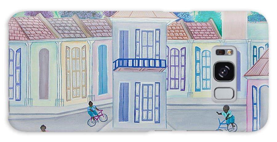 Galaxy S8 Case featuring the drawing Neighborhood School by Volmar Etienne