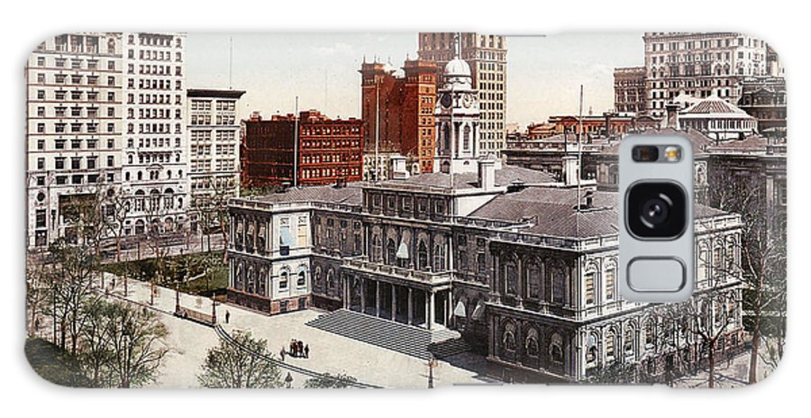New York City Hall 1900 Galaxy S8 Case featuring the digital art New York City Hall 1900 by Unknown