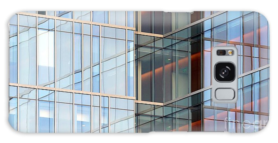 Downtown Galaxy S8 Case featuring the photograph Office Building Windows by Henrik Lehnerer