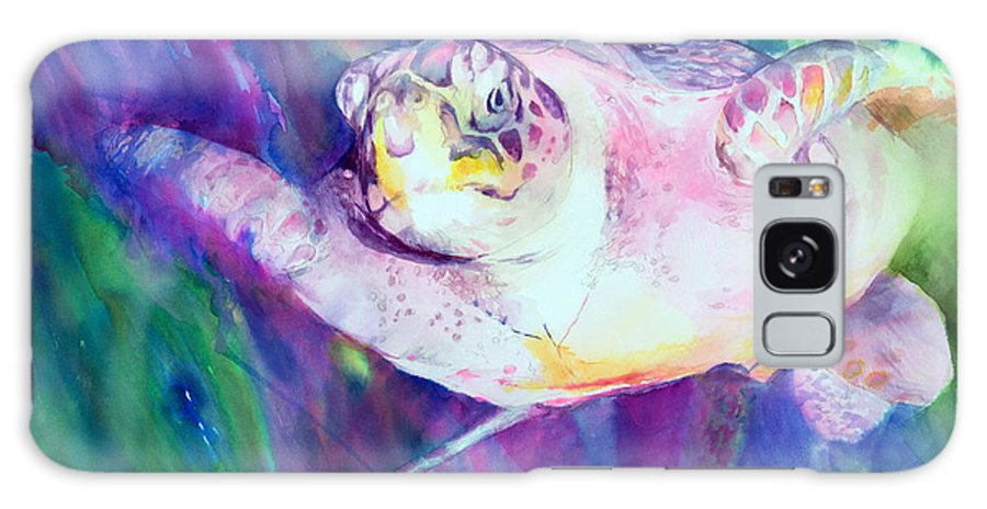 Sea Turtle Galaxy S8 Case featuring the painting Old Man Of The Sea by Beverly Berwick