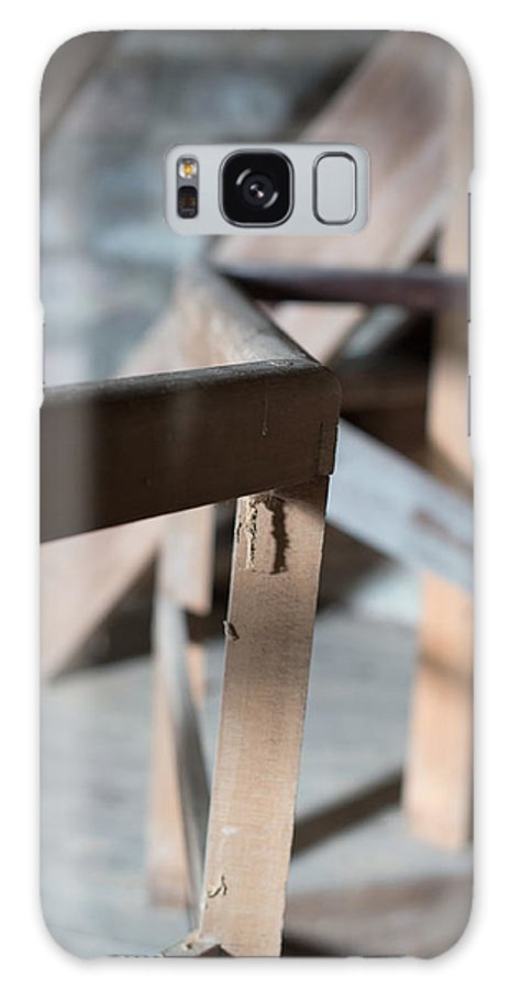 Old Galaxy S8 Case featuring the photograph Old Wooden Stairs by Frank Gaertner