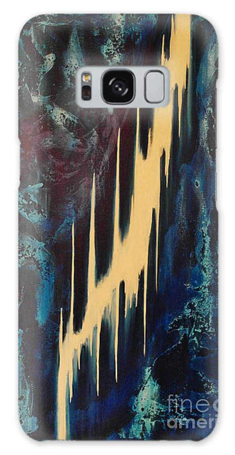 Abstract Galaxy S8 Case featuring the painting Only One Way by Wayne Cantrell