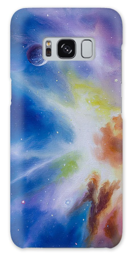 James Christopher Hill Galaxy Case featuring the painting Origin Nebula by James Christopher Hill