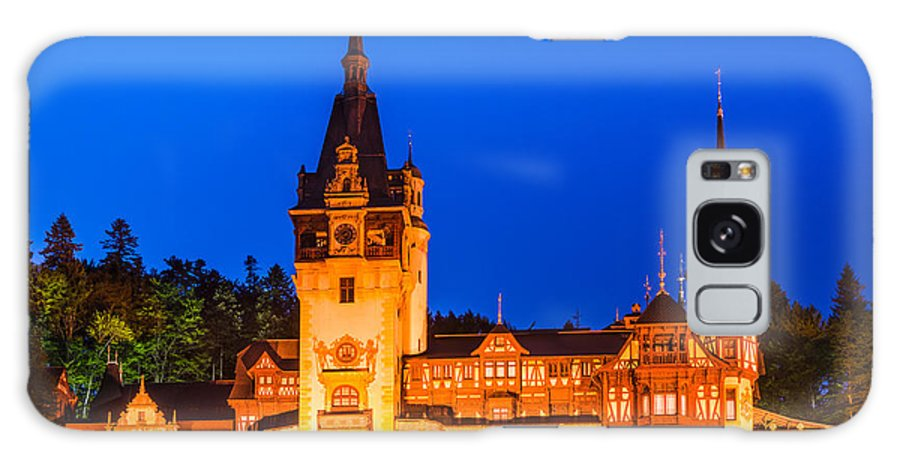 Carpathian Mountains Galaxy S8 Case featuring the photograph Peles Castle In Sinaia Romania by Emi Cristea