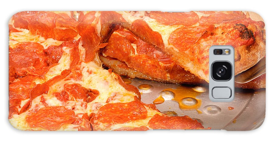 Pepperoni Galaxy S8 Case featuring the photograph Pepperoni Pizza by Jeffrey Banke