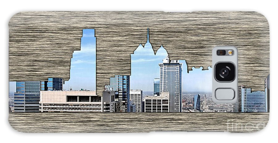Watercolour Digital Art Mixed Media Galaxy S8 Case featuring the mixed media Philadelphia Skyline by Marvin Blaine