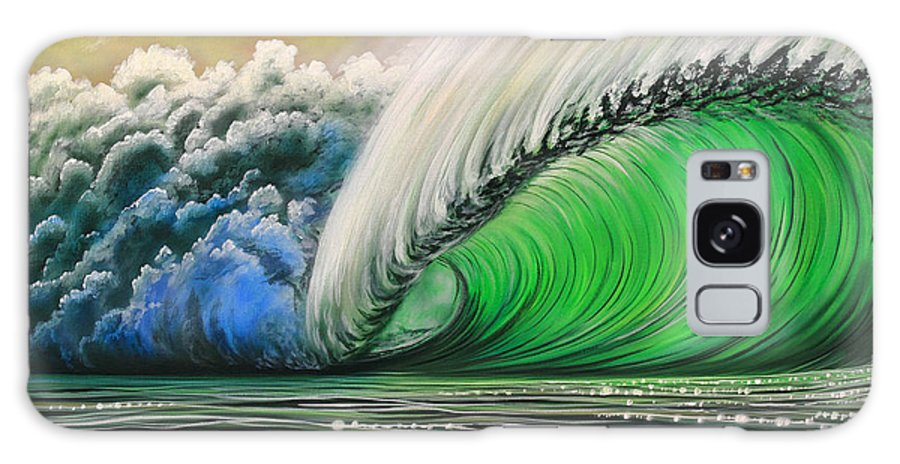 Pipeline Galaxy S8 Case featuring the painting Pipeline Gem by Marty Calabrese