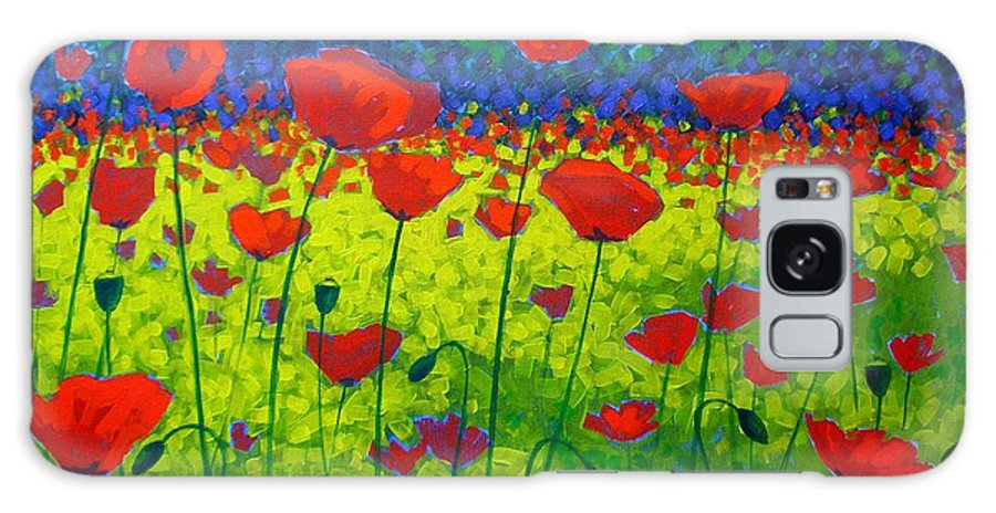 Flowers Galaxy S8 Case featuring the painting Poppy Field by John Nolan