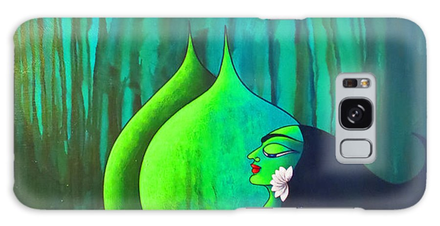 Goddess Galaxy S8 Case featuring the painting Prakriti by Sonali Chaudhari