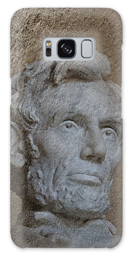 Monument Galaxy S8 Case featuring the photograph President Lincoln by Skip Willits