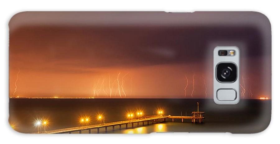 Black Sea Galaxy S8 Case featuring the photograph Rain Of Lightnings by Evgeni Dinev