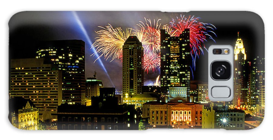 Red White And Boom Galaxy S8 Case featuring the photograph 21l334 Red White And Boom Fireworks Display Photo by Ohio Stock Photography