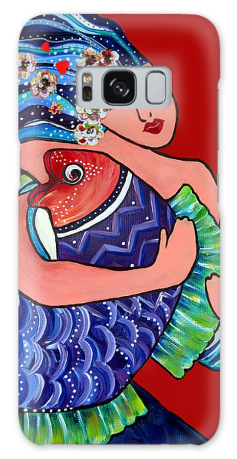Mermaid Galaxy S8 Case featuring the painting Reflections Of Benevolance by Cheryl Ehlers