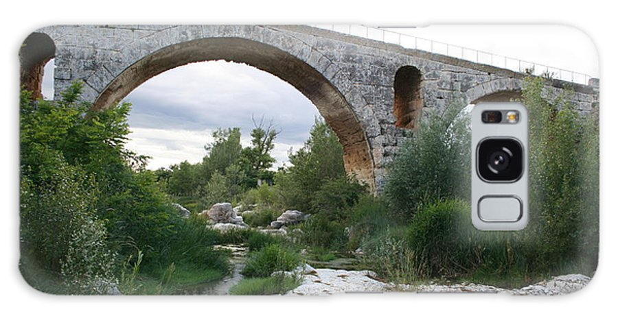 Roman Stonebridge Galaxy S8 Case featuring the photograph Roman Arch Bridge Pont St. Julien by Christiane Schulze Art And Photography