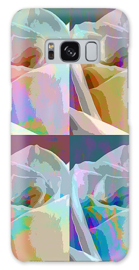 Abstract Composite Galaxy S8 Case featuring the photograph Rose Four by Linda Dunn