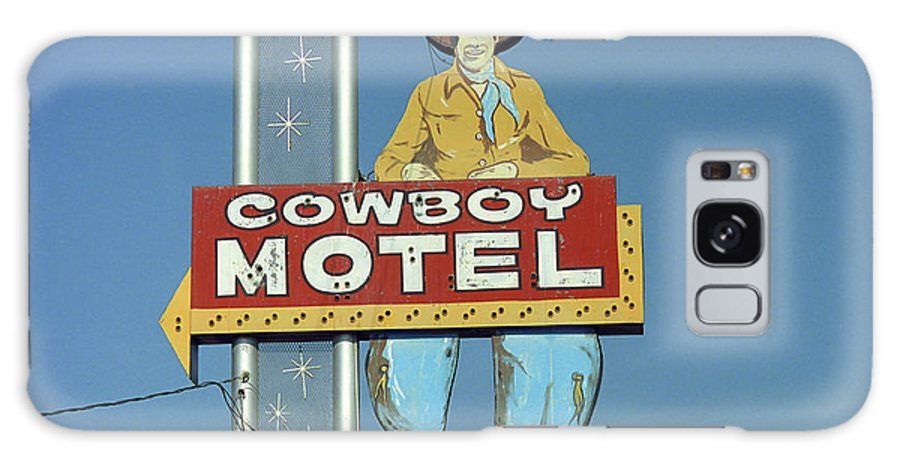 66 Galaxy S8 Case featuring the photograph Route 66 - Cowboy Motel by Frank Romeo