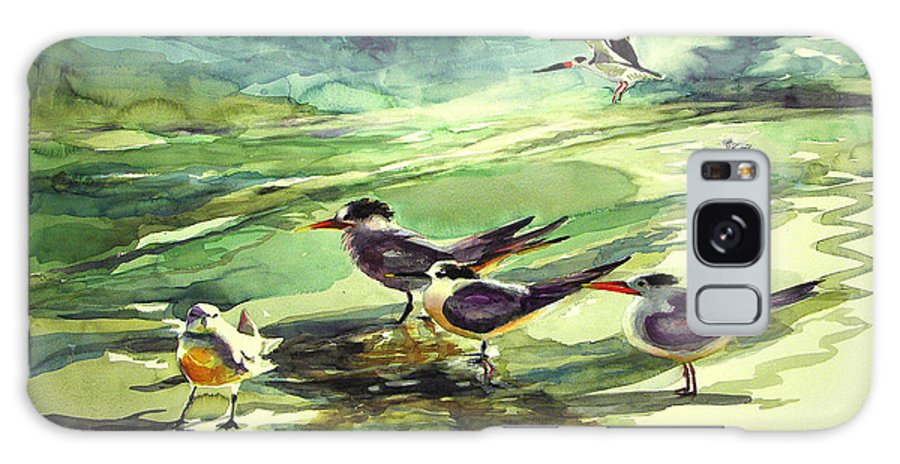 Watercolor Galaxy Case featuring the painting Royal Terns And Black Skimmers by Julianne Felton
