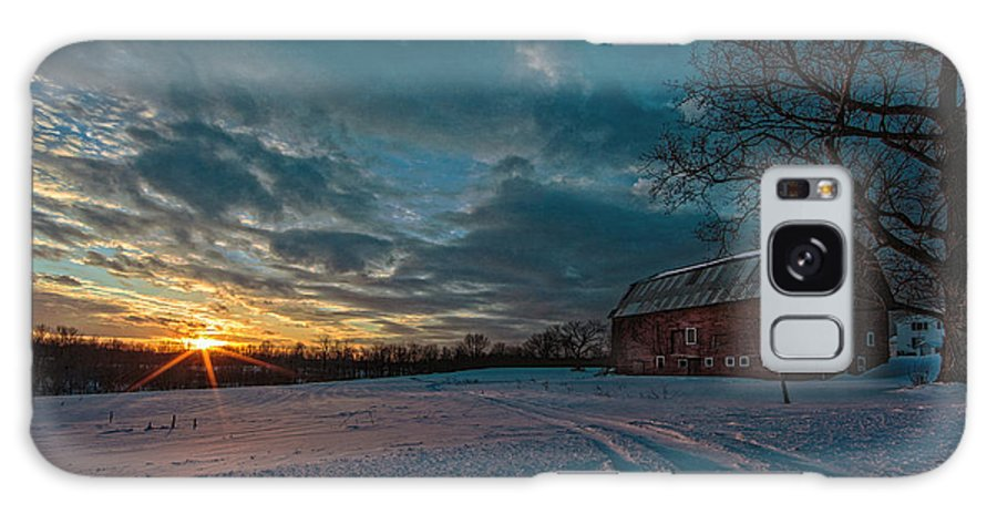 Sunset Galaxy S8 Case featuring the photograph Rural Sunset II by Everet Regal