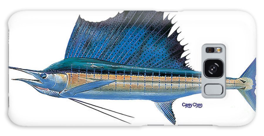Sailfish Galaxy S8 Case featuring the painting Sailfish by Carey Chen