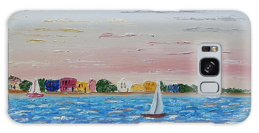 Impressionism Galaxy S8 Case featuring the painting Sailing Takes Me Away by Cynthia Kerens