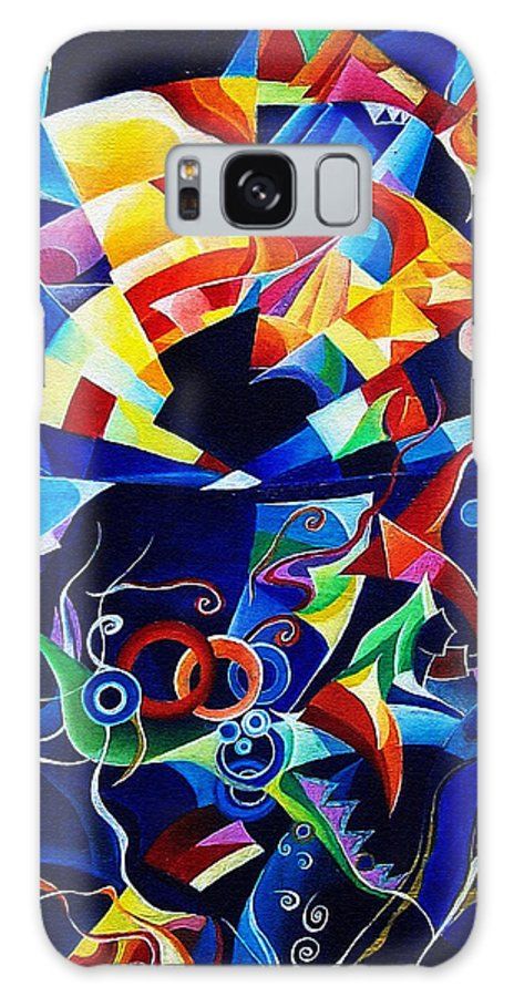 Alexander Scriabin Piano Sonata No.10 Acrylic Abstract Music Galaxy Case featuring the painting Scriabin by Wolfgang Schweizer