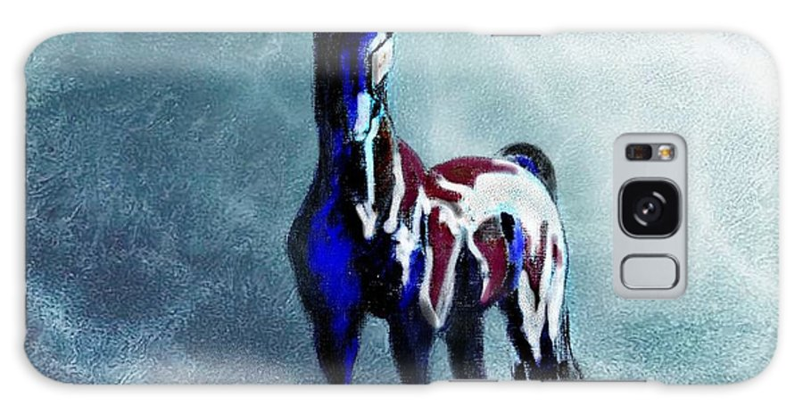 Horse Galaxy S8 Case featuring the painting Sea Horse by Tarja Stegars