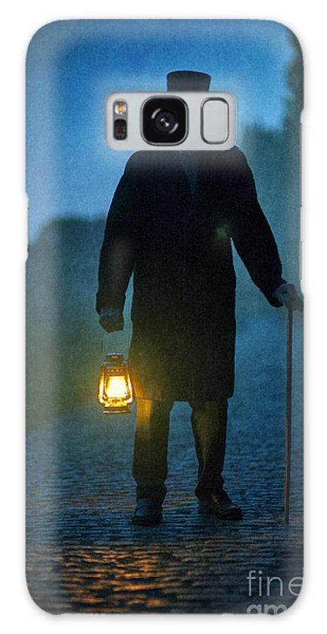 Victorian Galaxy S8 Case featuring the photograph Senior Victorian Man With Lantern by Lee Avison