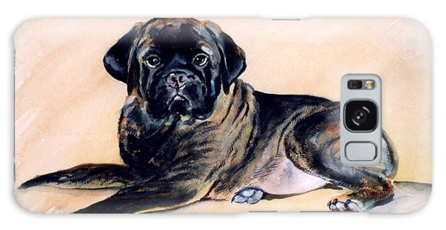 Bullmastiff Galaxy S8 Case featuring the painting Sharon by Adele Pfenninger