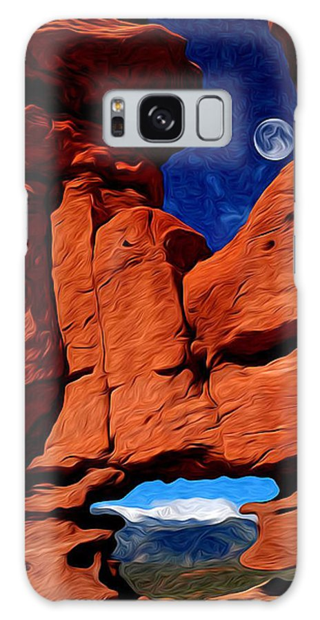 Garden Of The Gods Galaxy S8 Case featuring the photograph Siamese Twins Rock Formation At Garden Of The Gods by John Hoffman